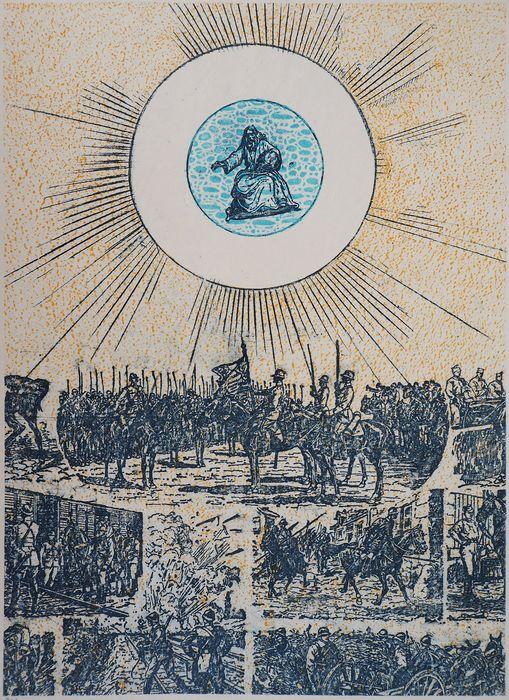 Max ERNST - Battlefields, 1972, original signed lithograph