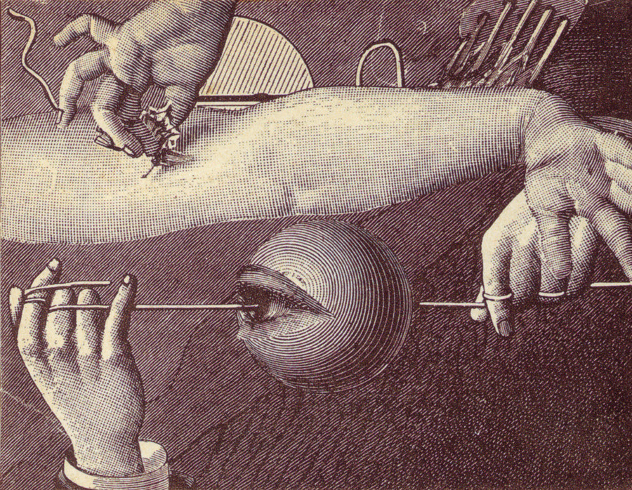 Max Ernst, Cover for Répétitions by Paul Eluard, 1922.