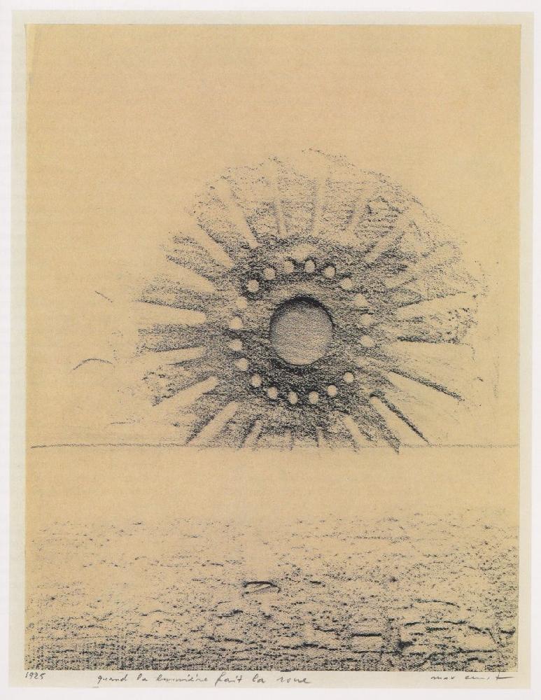 Max Ernst. When Light Cartwheels Frottage